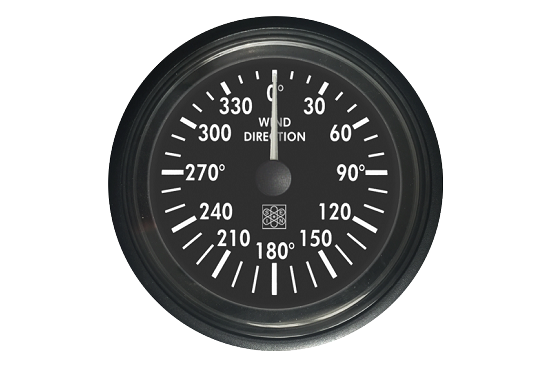 Wind direction indicator RQ type black dial