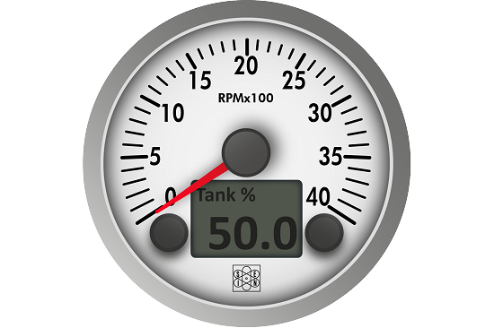 Tachometer with removable aluminum bezel