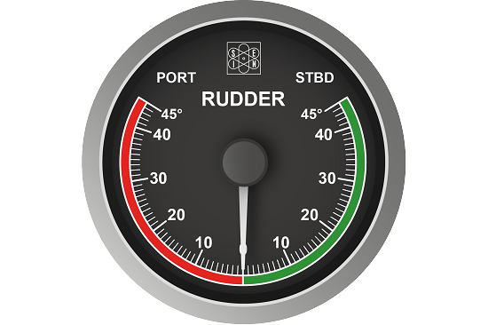Rudder and flap angle gauges