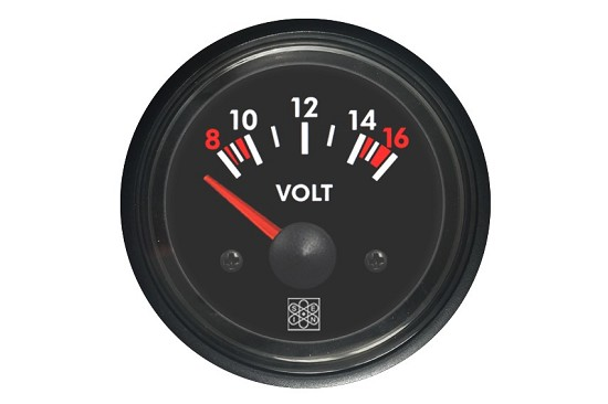 Voltmeters 8-16V white backlighting