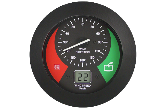 Wind speed and direction indicator