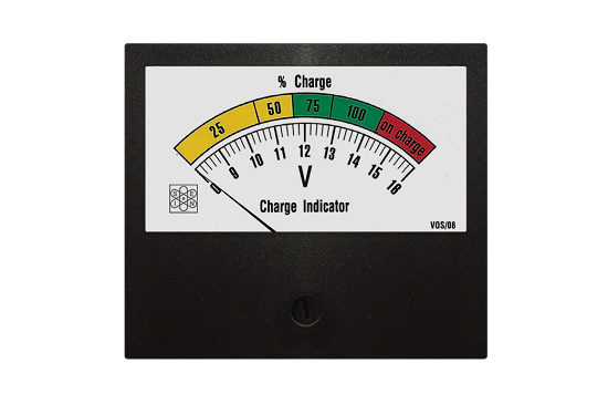 Voltmeter sensitized