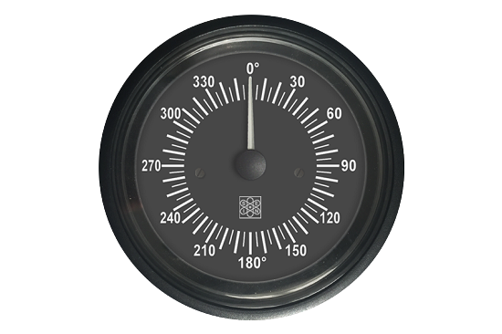 Angular position gauge