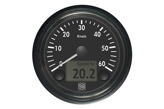 Combined Speed-Log with internal GPS 0-60Kn