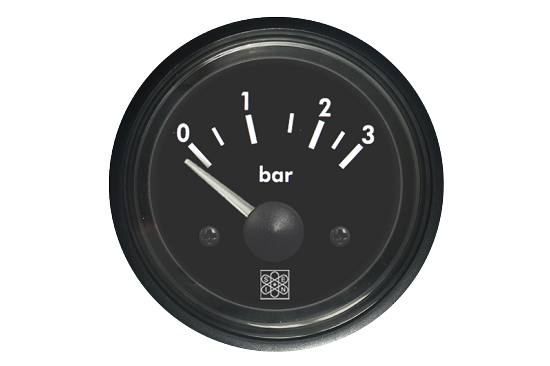 Pressure gauges 0-3 Bar VDO calibration 24V red backlighting