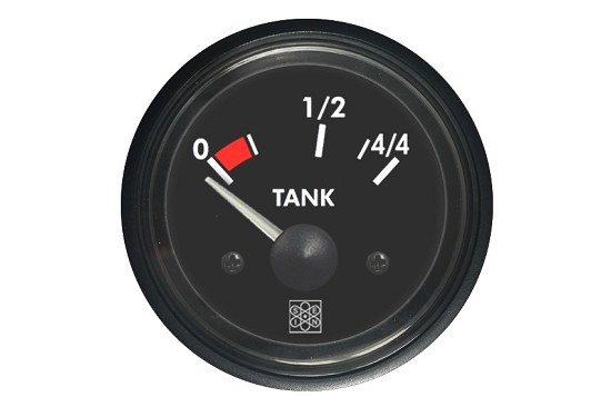 Fuel level instruments 0-44 Tank input 10-180Ω 24V red backlighting
