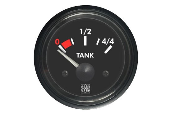 Fuel level instruments 0-44 Tank input 240-30Ω 24V red backlighting