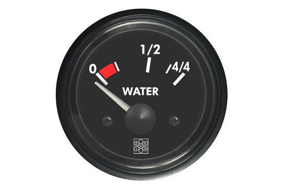 Fresh and waste water level instruments 0-44 Water input 10-180Ω 12V red backlighting